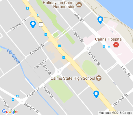 map of Cairns North apartments for rent