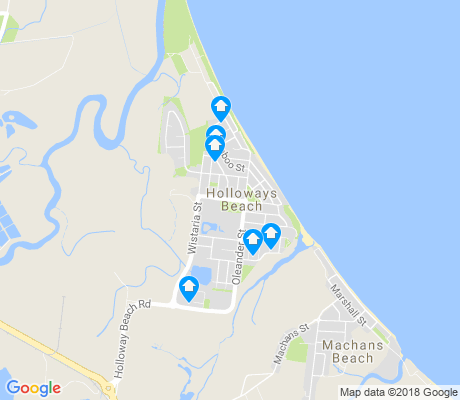 map of Holloways Beach apartments for rent