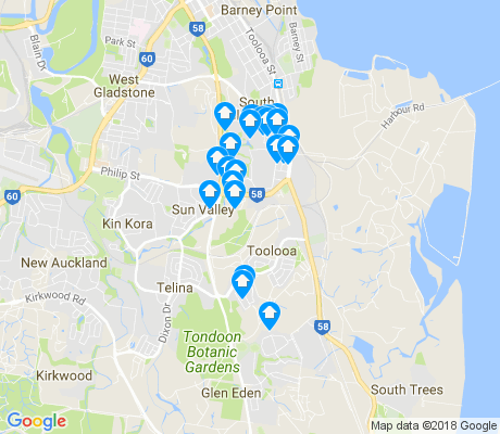 map of Toolooa apartments for rent