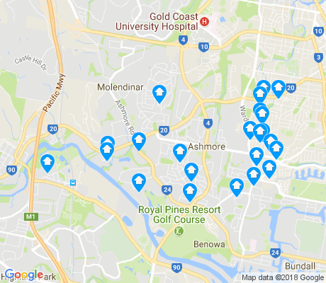 map of Ashmore apartments for rent