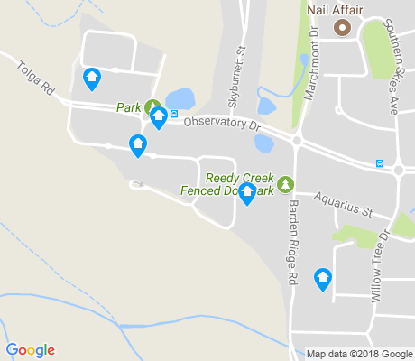 map of Bonogin apartments for rent