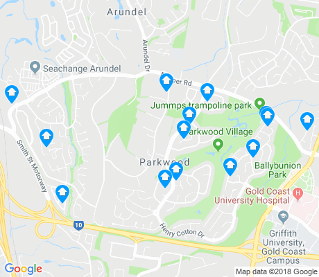 map of Parkwood apartments for rent