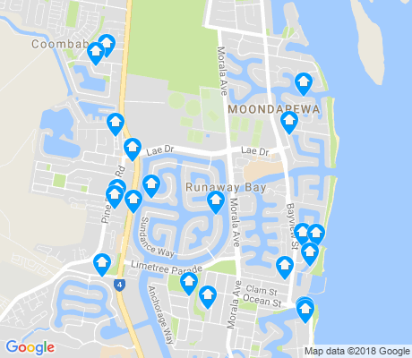 map of Runaway Bay apartments for rent