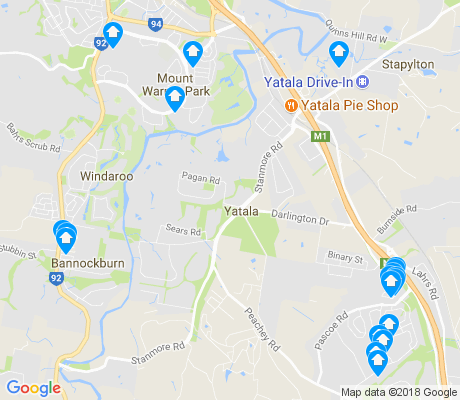 map of Yatala apartments for rent