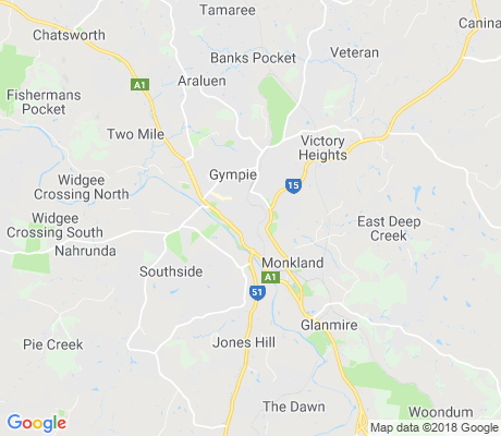 map of Gympie apartments for rent