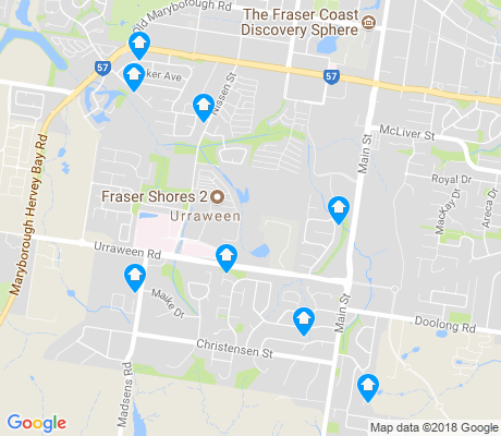 map of Urraween apartments for rent