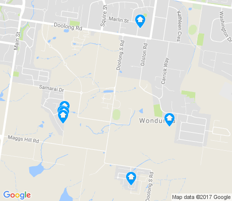 map of Wondunna apartments for rent