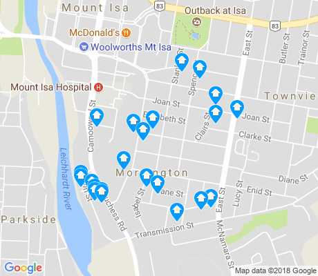 map of Mornington apartments for rent