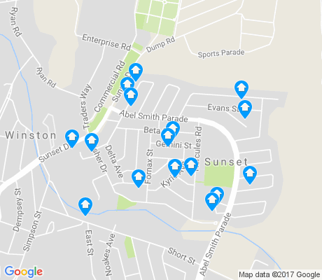 map of Sunset apartments for rent