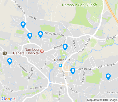 map of Nambour apartments for rent