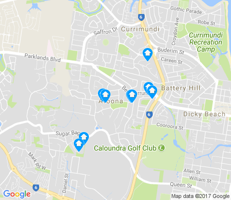 map of Aroona apartments for rent