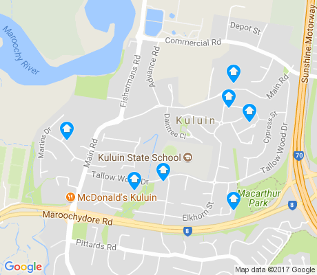 map of Kuluin apartments for rent