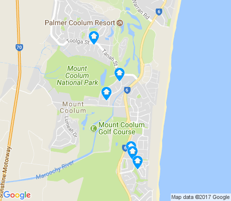 map of Mount Coolum apartments for rent