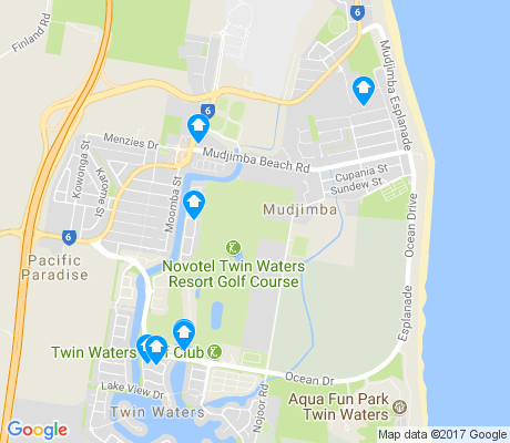 map of Mudjimba apartments for rent