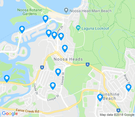 map of Noosa Heads apartments for rent