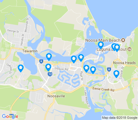 map of Noosaville apartments for rent