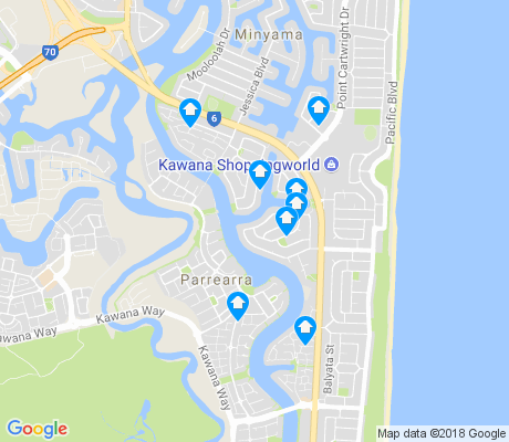 map of Parrearra apartments for rent