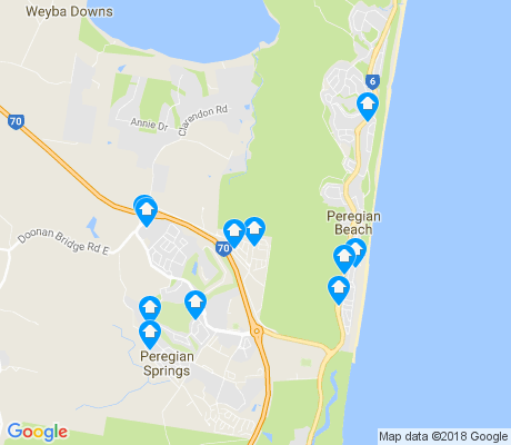 map of Peregian Beach apartments for rent