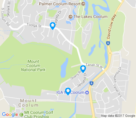 map of Yaroomba apartments for rent