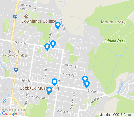 map of Mount Lofty apartments for rent