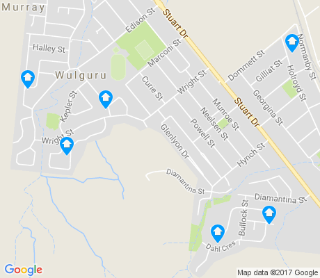 map of Wulguru apartments for rent
