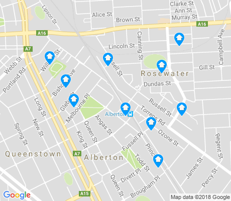 map of Alberton apartments for rent