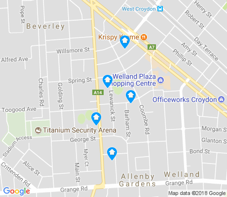 map of Allenby Gardens apartments for rent