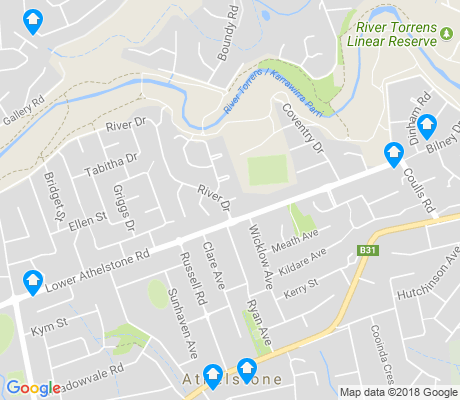 map of Athelstone apartments for rent