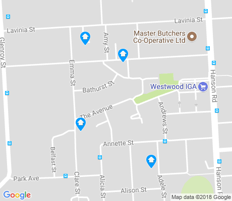map of Athol Park apartments for rent