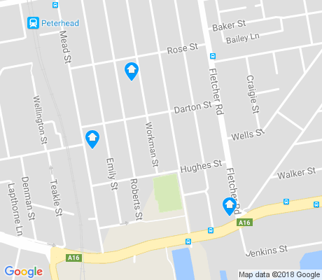 map of Birkenhead apartments for rent