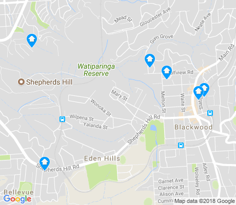 map of Blackwood apartments for rent