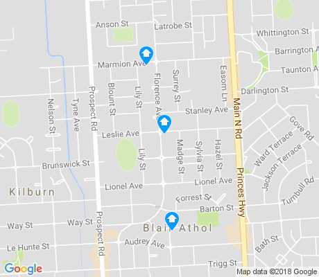 map of Blair Athol apartments for rent