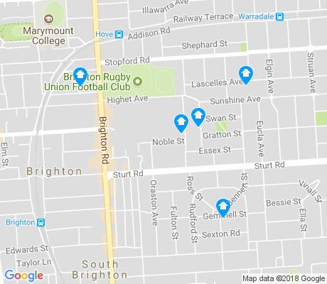 map of Brighton apartments for rent