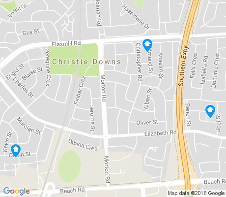 map of Christie Downs apartments for rent