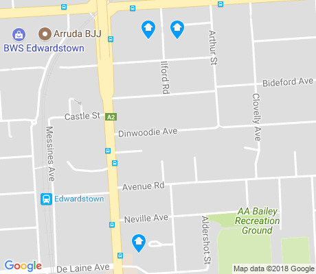 map of Clarence Gardens apartments for rent