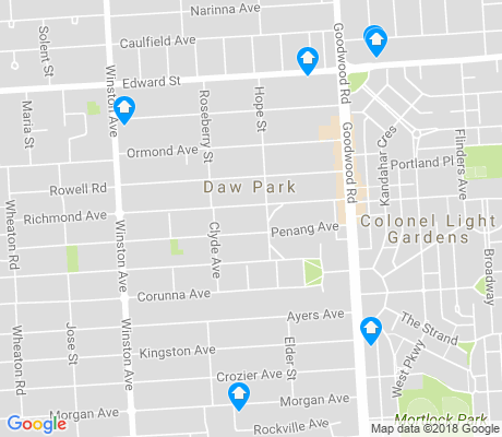 map of Colonel Light Gardens apartments for rent