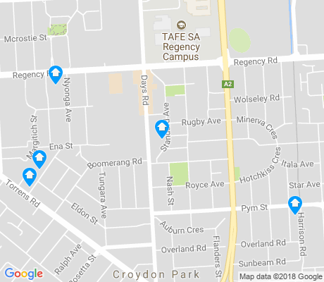 map of Croydon Park apartments for rent
