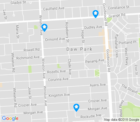 map of Daw Park apartments for rent