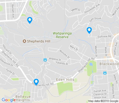 map of Eden Hills apartments for rent