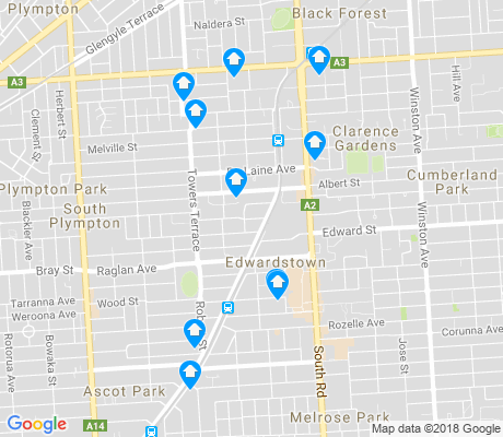 map of Edwardstown apartments for rent