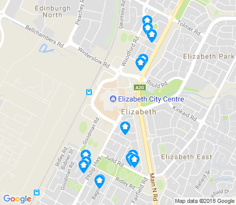 map of Elizabeth apartments for rent