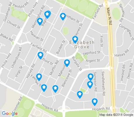 map of Elizabeth Grove apartments for rent