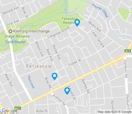 map of Felixstow apartments for rent
