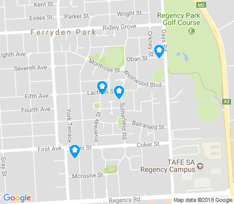 map of Ferryden Park apartments for rent