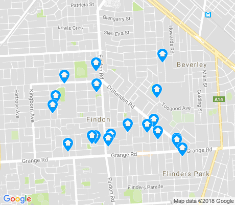 map of Findon apartments for rent