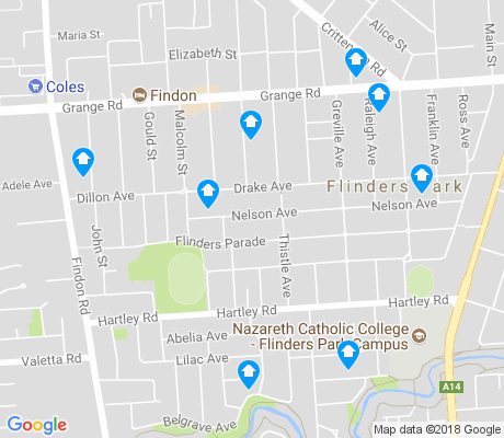 map of Flinders Park apartments for rent