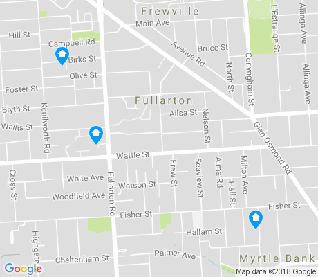 map of Fullarton apartments for rent