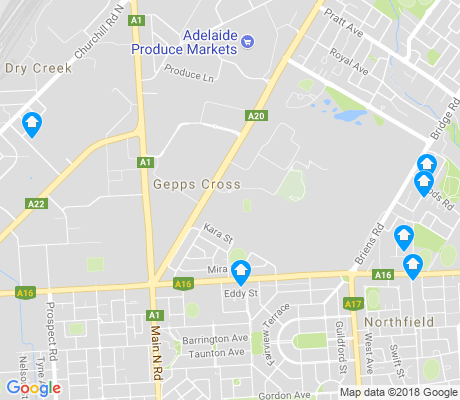 map of Gepps Cross apartments for rent