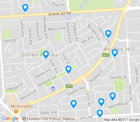 map of Gilles Plains apartments for rent
