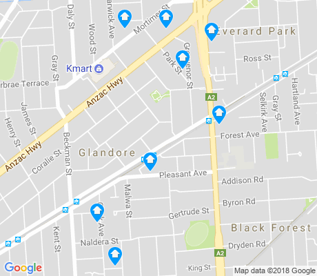 map of Glandore apartments for rent